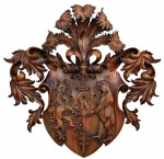 Family Coat of Arms carved in wood