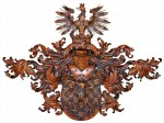 Coat of Arms carved in wood